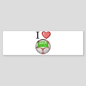 I Love Saudi-Arabia Football Bumper Sticker