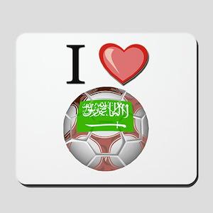 I Love Saudi-Arabia Football Mousepad