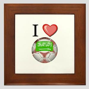 I Love Saudi-Arabia Football Framed Tile
