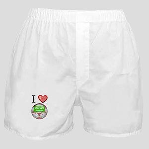I Love Saudi-Arabia Football Boxer Shorts