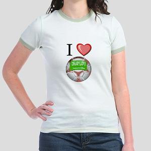 I Love Saudi-Arabia Football Jr. Ringer T-Shirt