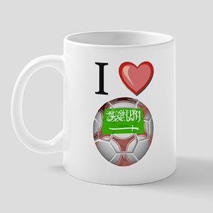 I Love Saudi-Arabia Football Mug