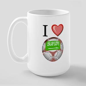I Love Saudi-Arabia Football Large Mug