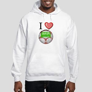 I Love Saudi-Arabia Football Hooded Sweatshirt