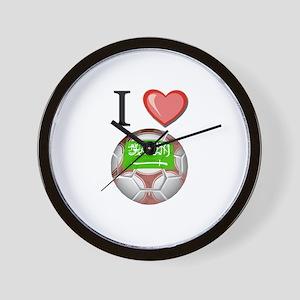 I Love Saudi-Arabia Football Wall Clock