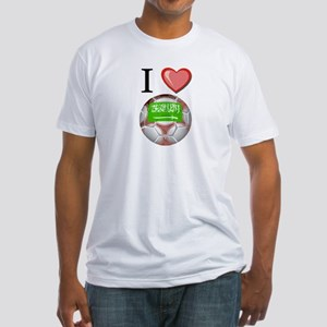 I Love Saudi-Arabia Football Fitted T-Shirt