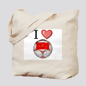 I Love Morocco Football Tote Bag