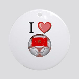 I Love Morocco Football Ornament (Round)