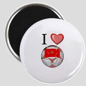I Love Morocco Football Magnet
