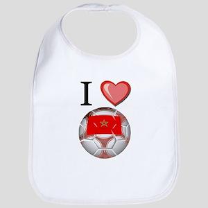 I Love Morocco Football Bib