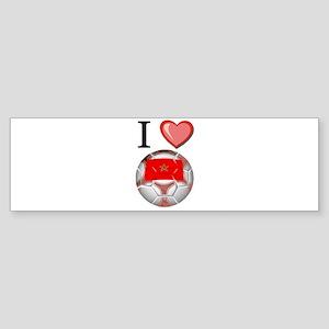I Love Morocco Football Bumper Sticker
