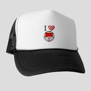 I Love Morocco Football Trucker Hat