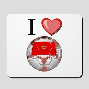I Love Morocco Football Mousepad