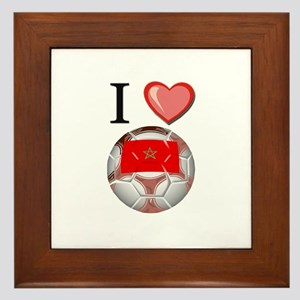 I Love Morocco Football Framed Tile