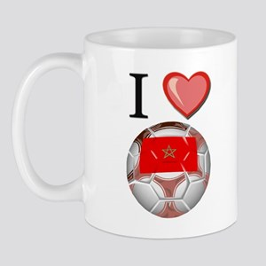 I Love Morocco Football Mug