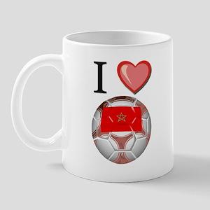 I Love Morocco Football Mug