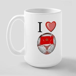 I Love Morocco Football Large Mug