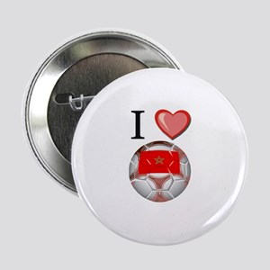 "I Love Morocco Football 2.25"" Button"