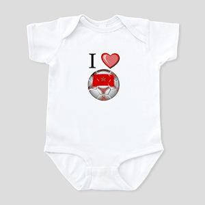 I Love Morocco Football Infant Bodysuit