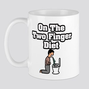"""On The Two Finger Diet"" Mug"