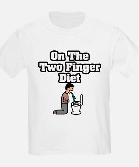"""""""On The Two Finger Diet"""" T-Shirt"""
