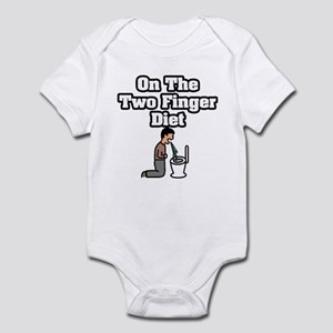 """On The Two Finger Diet"" Infant Bodysuit"