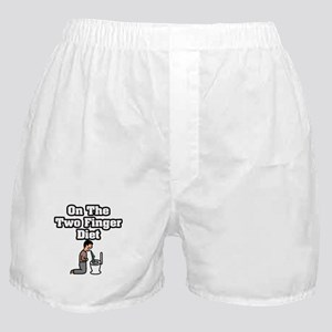 """""""On The Two Finger Diet"""" Boxer Shorts"""