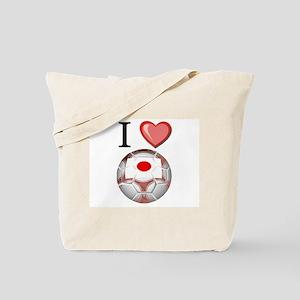 I Love Japan Football Tote Bag