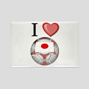 I Love Japan Football Rectangle Magnet