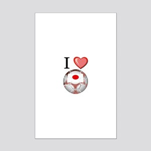 I Love Japan Football Mini Poster Print