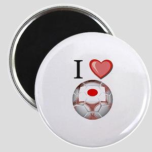 I Love Japan Football Magnet