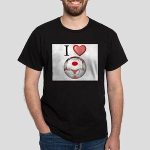 I Love Japan Football Dark T-Shirt