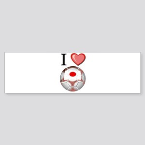 I Love Japan Football Bumper Sticker