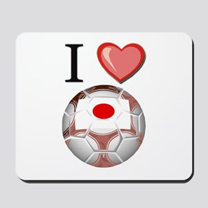 I Love Japan Football Mousepad