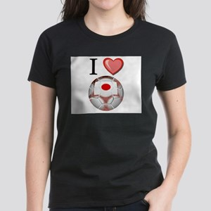 I Love Japan Football Women's Dark T-Shirt