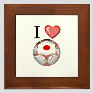 I Love Japan Football Framed Tile