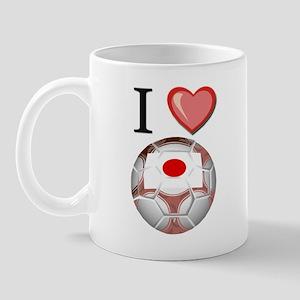 I Love Japan Football Mug