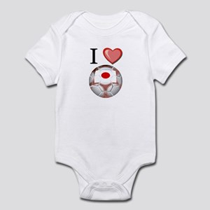 I Love Japan Football Infant Bodysuit