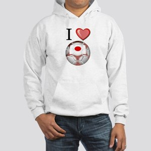 I Love Japan Football Hooded Sweatshirt