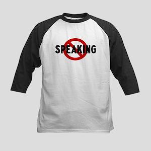 Anti speaking Kids Baseball Jersey