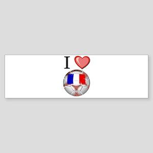 I Love France Football Bumper Sticker