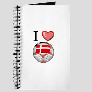 I Love Denmark Football Journal