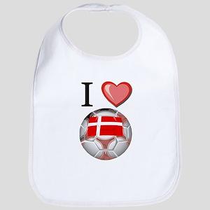 I Love Denmark Football Bib
