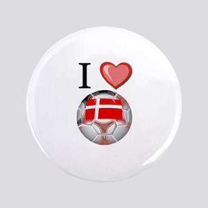 "I Love Denmark Football 3.5"" Button"