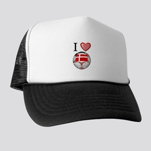 I Love Denmark Football Trucker Hat
