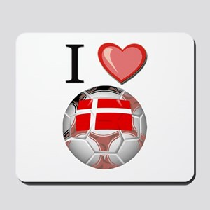 I Love Denmark Football Mousepad