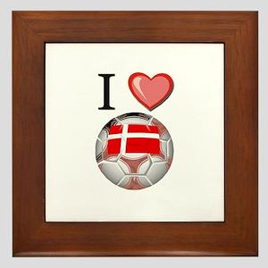 I Love Denmark Football Framed Tile