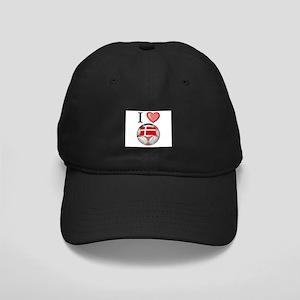 I Love Denmark Football Black Cap