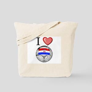 I Love Croatia Football Tote Bag