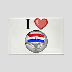 I Love Croatia Football Rectangle Magnet